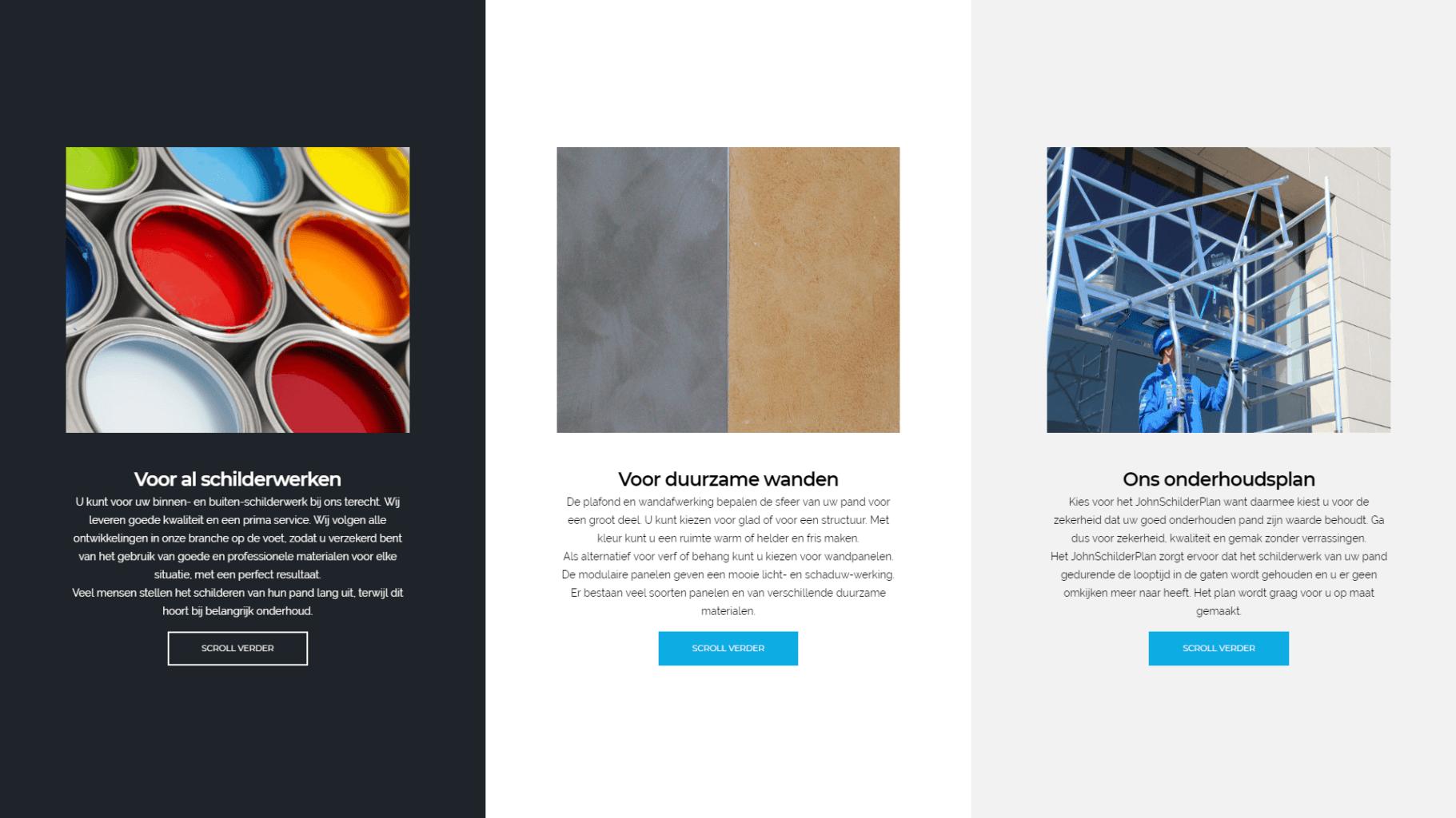 Website Verhoeven Schilders
